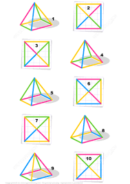find the top view for every colorful object visual math free