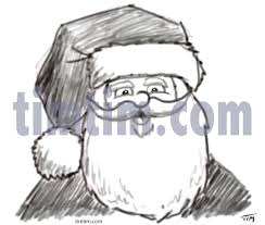 free drawing of santa sketch from the category christmas