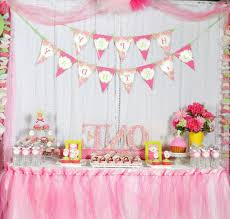 baby girl birthday decorations for baby girl 1st birthday decorating of party