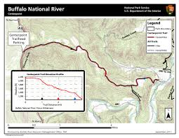 Buffalo Creek Trail Map Upper District Hiking Buffalo National River U S National Park