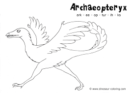 archaeopteryx coloring