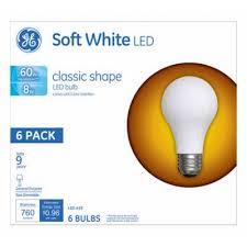 ge led light bulbs ge led light bulbs 8 watts 6 pack k k hardware