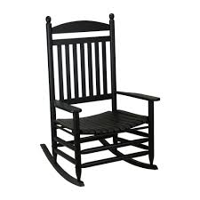 Patio Rocking Chairs Wood Bradley Black Jumbo Slat Wood Outdoor Patio Rocking Chair 1200sbf
