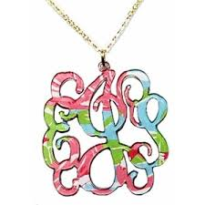 acrylic monogram necklace lilly pulitzer acrylic monogram necklace polyvore