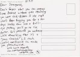 how to write a postcard to a the verboten