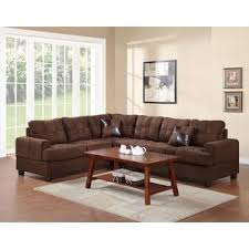 Microfiber Sectional Couch With Chaise Microfiber Sectional Sofas You U0027ll Love Wayfair
