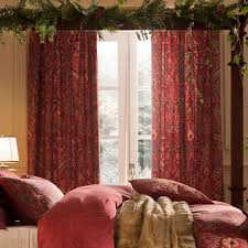 dorma red marianna lined pencil pleat curtains for the living room