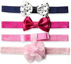 pink headbands hudson baby baby headbands 4 pack pink with flower