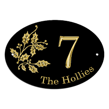 holly leaves house name plate house gate door sign customised