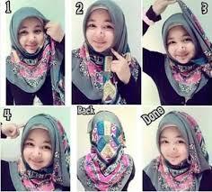 tutorial jilbab segi 4 untuk kebaya 15 cara memakai hijab segi empat simple bacaterusnet