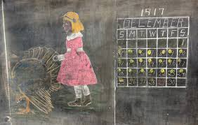 description of thanksgiving century old chalkboard drawings offer a history lesson