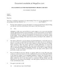 Legal Letters Templates Independent Product Review Engagement Letter Legal Forms And