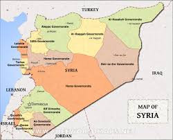 Political Map Asia by Syria Map