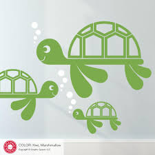 sea turtle family wall decals cute ocean turtle decals baby sea turtle family wall decals