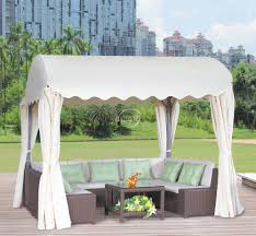 outdoor supplier dia 2 7m cyclider design rattan gazebo luxury