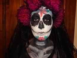 la catrina sugar skull dia de los muertos makeup stephanie