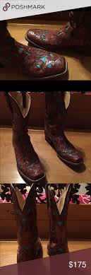 womens size 11 square toe cowboy boots s corral boots 11 gorgeous pair of s corral