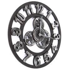 Decorative Wall Clock Bright Large Gear Wall Clock 59 Maples Clock Large Moving Gear