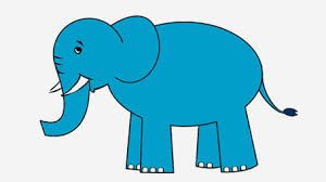 how to draw an elephant for kids in easy steps