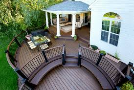 Pinterest Deck Ideas by Trex Transcend Composite Round Deck With Roof Www