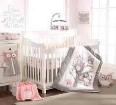 light pink crib bedding decoration light pink crib bedding set baby night owl 5 piece sets