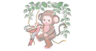 jungle baby embroidery design 017 free machine