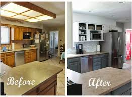 Painted White Kitchen Cabinets Before And After Kitchen Ikea Kitchen Remodel Beautiful Before And After White