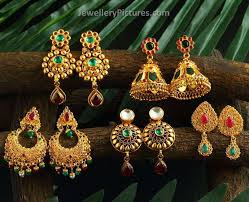 earrings in grt josalukkas gold earrings designs jewellery designs