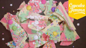 how to make magical coloured chocolate bark cupcake jemma youtube