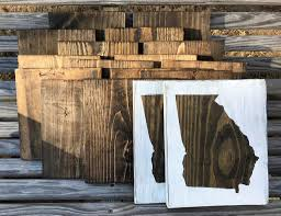 state wood state wood sign distressed slrustic
