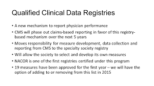 data registries qualified clinical data registries a new mechanism to report