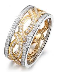 wedding ring with two bands 1 carat antique diamond wedding ring band in two tone white and