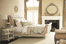 Tufted Sleigh Bed King Glorious Bedroom Fireplace Mirror With White Tufted Bed King Bed