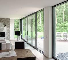 Wohnzimmer Und K He Ideen Modern Living Mit Einer Dreiläufigen Schiebetüre Von Armbruster