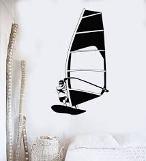 vinyl wall decal windsurfing sail water sports beach style