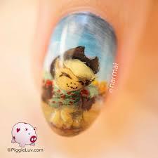 piggieluv autumn applejack nail art