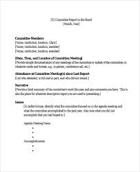 what is a report template sle committee report template 8 free documents in