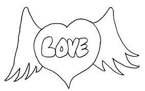 coloring pages of heart hearts with flames coloring pages