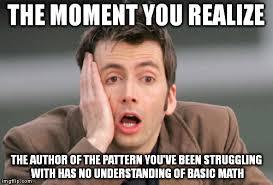 Knitting Meme - bad pattern imgflip