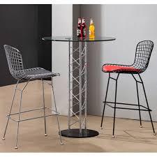Zuo Modern Bar Table Zuo Modern 621111 Chardonnay Bar Table In Tempered Glass U0026 Chrome