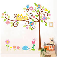 popular wall decals sticke buy cheap wall decals sticke lots from baby room decor 165 150cm cute owl tree peel stick wall decal kindergarten diy art vinyl