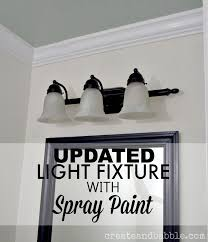 easy light fixture makeover with spray paint