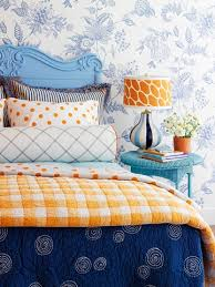 orange and blue bedroom eye for design decorating with the blue orange color combination