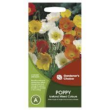 gardener u0027s choice iceland mixed colour poppy seeds kmart