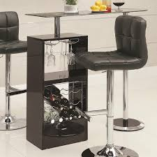 amazon com coaster home furnishings transitional bar table black
