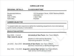 curriculum vitae format for freshers doc sle resume format for bcom freshers free doc curriculum vitae