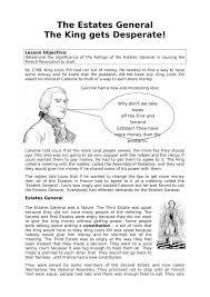 estates general information worksheet history