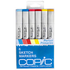 copic sketch marker set perfect primaries