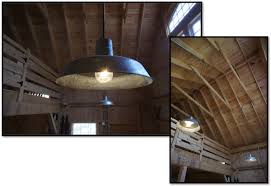 Barn Lighting Fixtures Rustic Barn Lights Give Vintage Feel To New Barn
