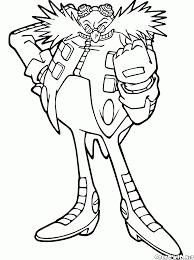 coloring page doctor eggman